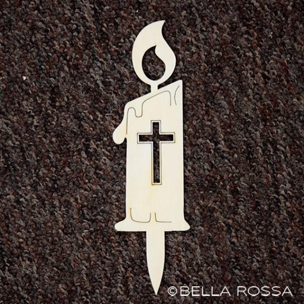 Lesena sveča - Križ