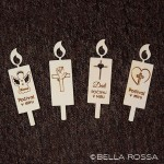 Lesena sveča - Križ s srcem