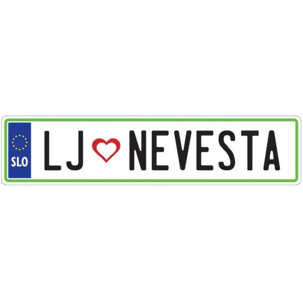 Nalepka - LJ - NEVESTA