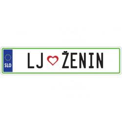 Nalepka - LJ - ŽENIN