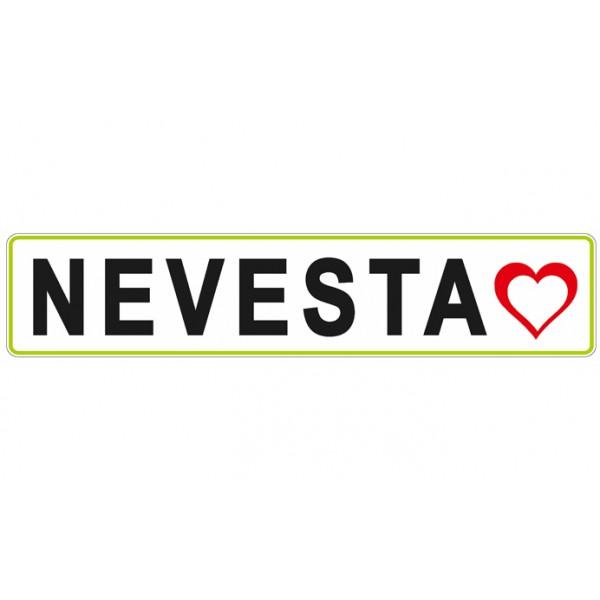 Nalepka - NEVESTA - Srce