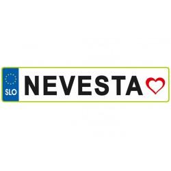 Nalepka - NEVESTA - Srce EU