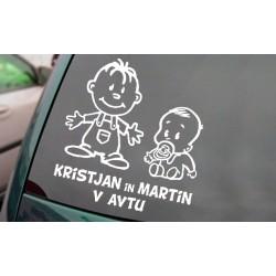 Otroka v avtu - Dečka