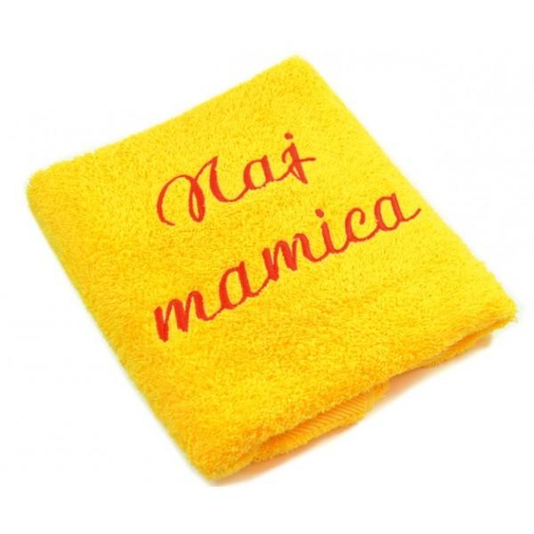 Brisača z vezenino - Naj mamica