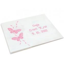 Krstni prtiček - metulja