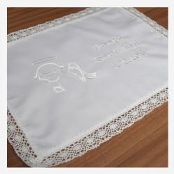 Krstni prtiček - angel - bel