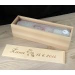 Škatla za krstno svečo - srednja