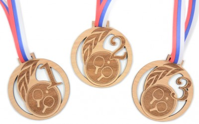 Unikatne medalje - namizni tenis ...