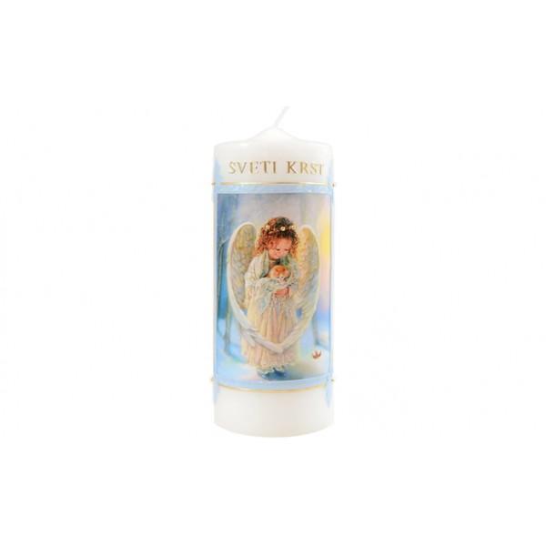Krstna sveča - Angel - moder